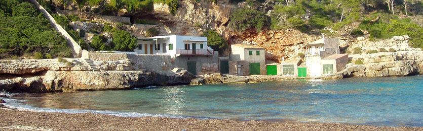 Calas y playas cerca de Santanyí